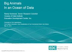 Big Animals in an Ocean of Data